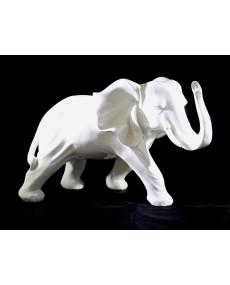 Scultura elefante bianco 38X17X23h cm