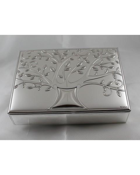 Cofanetto porta gioie albero della vita in argento