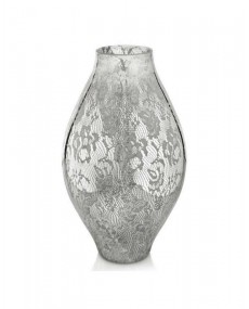 Vaso decoro specchiato argento