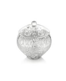 Porta cioccolatini con decoro specchiato argento cm. 20,2h.cm 21.5