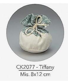 Sacchetto con tirante e decorazione tiffany, mis: 8x12 cm
