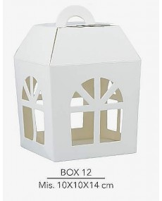 Scatola lanterna misura 10x10x14 cm