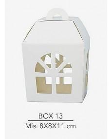 Scatola lanterna per confezionamento bomboniere o per abbellire tavoli da cerimonia misura 8X8X11 cm ,