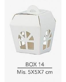 Scatola lanterna per confezionamento bomboniere o per abbellire tavoli da cerimonia misura 5X5X7 cm
