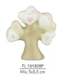 Albero con decorazione cuori rosa misura: 5x5,5 cm