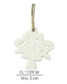Alberello appendino color bianco mis: 3 cm