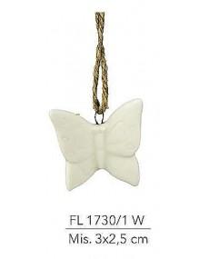 Appendino Farfalla in porcellana bianca mis: 3x2.5 cm