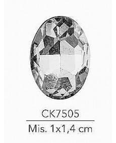 STRASS OVALE MIS: 1X1.4 CM