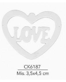 GESSETTO CUORE LOVE MIS:  3,5X4,5 CM