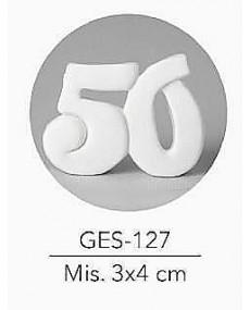 GESSETTO NUMERO 50 MIS. 3X4 CM