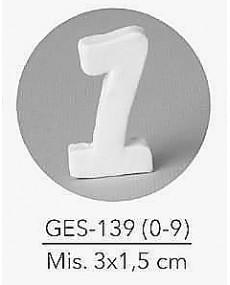 GESSETTO NUMERO 1 MIS. 3X1,5 CM
