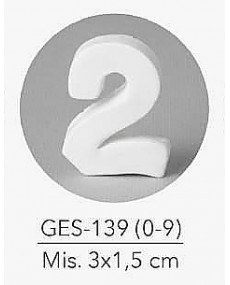 GESSETTO NUMERO 2 MIS. 3X1,5 CM