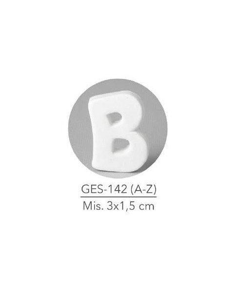 GESSETTO LETTERA B MIS. 3X1,5 CM