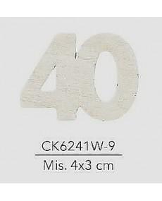 APPLICAZIONE IN LEGNO NUMERO 40 MIS. 4X3 CM