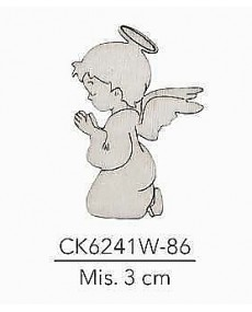 APPLICAZIONE IN LEGNO ANGELO MIS. 3 CM