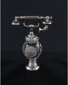 Telefono in fusione arg. con sfera cristallo swarovski