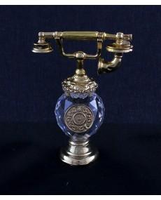 Telefono in fusione oro r. con sfera cristallo swarovski