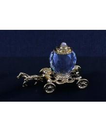 Carrozza cenerentola in fusione  oro r. e sfera in cristallo swarovski