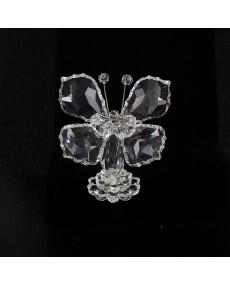 Farfalla in cristalli swarovski.