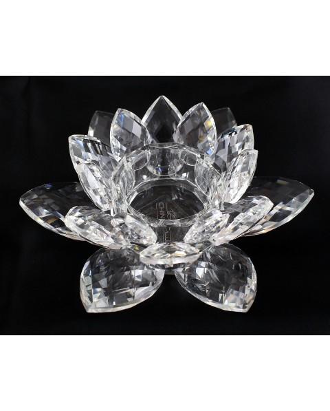 """""""lotus"""" porta candela fiore cristallo cm d 14 x h 5"""