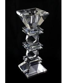 candelabro rombo piccolo in cristallo cm h 18