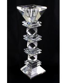Candelabro in cristallo rombo medio h cm 23 x 6 x 6