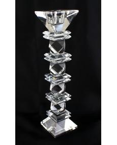 Candelabro in cristallo rombo grande h cm 28 x 6 x 6