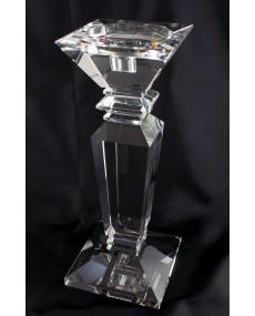 Candelabro in cristallo base quadra piccolo, h cm 29 base 12 x 12.