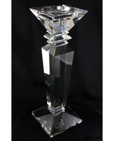 Candelabro in cristallo base quadra medio, h cm 35 base 12 x 12.