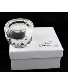 Tea light vasetto diamante cristallo lux con scatola f/c