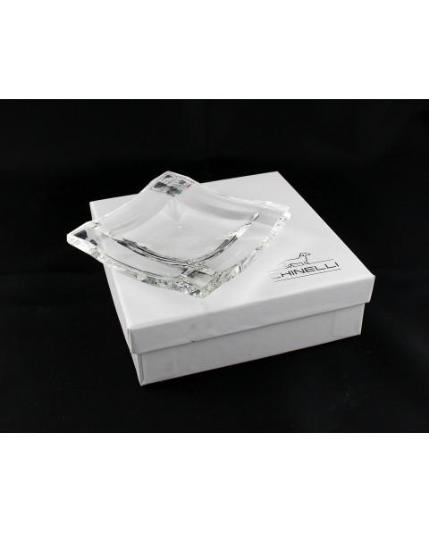 piattino quadro p/cero cristallo lux con scatola f/c