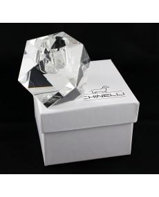 P/candela singolo prismatico cristallo lux con scatola f/c