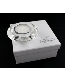 tea light tondo diamante cristallo lux con scatola f/c