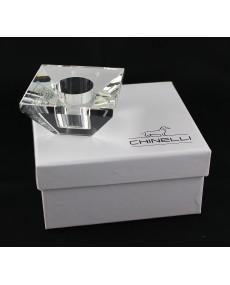 p/candela singolo quadro cristallo lux con scatola f/c