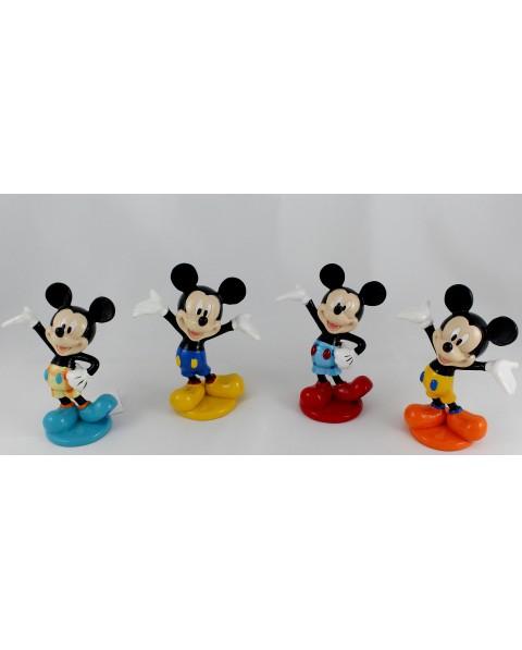 Walt Disney Mickey in 4 diverse forme e colori, in resina colorata lucida h10 cm, con astuccio