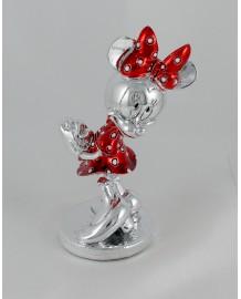 Walt Disney Minnie argento colorato smaltato, h 13 completo di astuccio