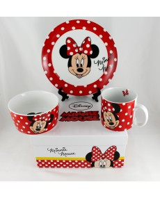 Walt Disney Minnie set pappa in porcellana 3 pz con astuccio