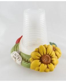 porta bicchieri o bottiglia in ceramica nonnamara