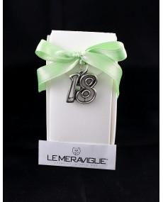 ciondolo cristallo trasparente diciotto verde + box