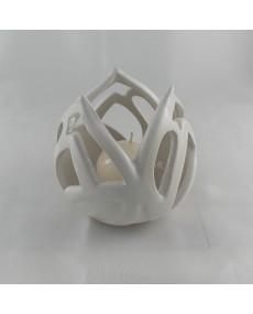 bocciolo candela bianco 10x10x10 + astuccio borsa