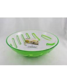 Cestino pane bicolore bianco e verde