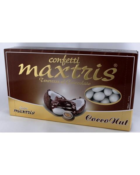 Maxtris cocconut , confetti con cioccolato al latte gianduia e cocco