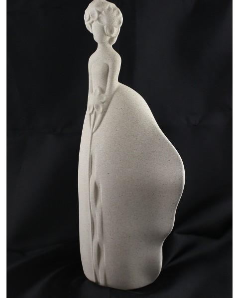 """Statua """"sogno"""" in porcellana grigia"""